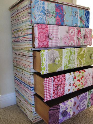 selvedge & patchwork dresser