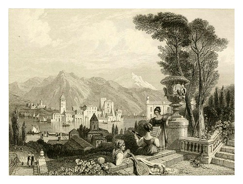 014-Lago de Como-The tourist in Switzerland and Italy-1830-Samuel Prout