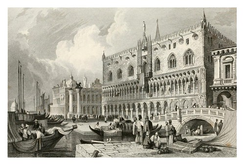 016-Palacio Ducal de Venecia-The tourist in Switzerland and Italy-1830-Samuel Prout