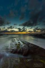 Barrika  `[Explore] (saki_axat) Tags: longexposure sunset sea sky seascape clouds canon rocks explore filters barrika 50d gnd8
