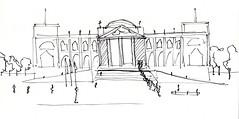 Berlin - Berliner dom (Rebecca Vanysacker) Tags: berlin architecture sketch berlinerdom croquis berlijn schets