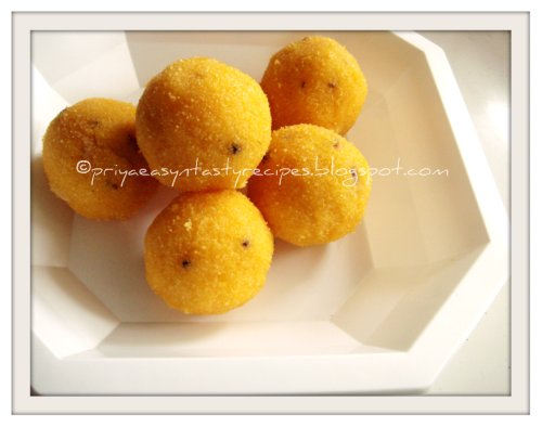 Cornmeal Laddoos