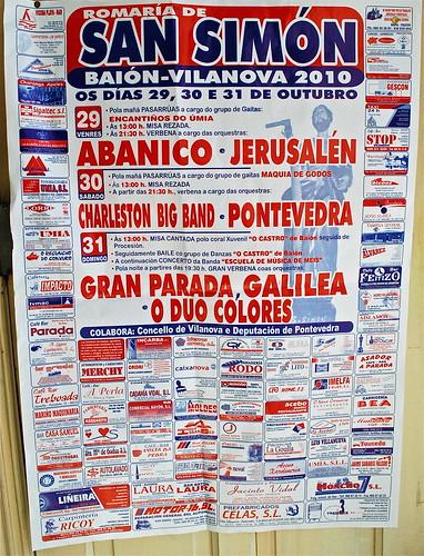 Vilanova de Arousa - Baión - Romaría de San Simón - cartel