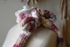 Christmas Gilt Scarf (phydeaux designs) Tags: white silver gold holidays burgundy rustic handknit merinowool cranberry handspunwool autumnfall greygray phydeaux phydeauxdesigns accessoryaccessories scarfscarvesscarfs knittingknitknitted christmasvintagecolors