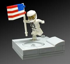 Astronauta LEGO bandera