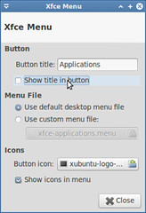 Hide title in Applications button