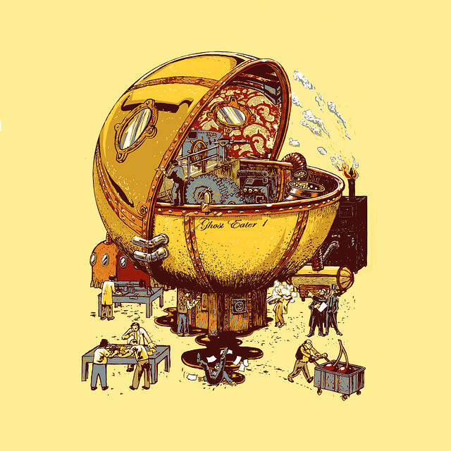 Ghost Eater 1 (steampunk pacman)