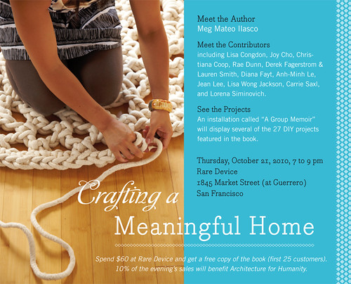 Crafting a Meaningful Home event invitation!