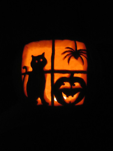 Window Pumpkin