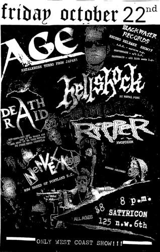 10/22/10 Age Hellshock Deathraid Ripper Nerveskade
