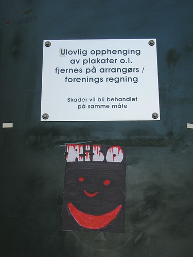 Sticker art in Kristiansand
