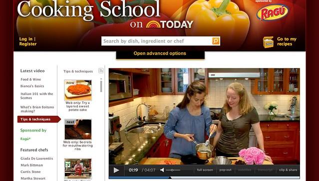 Today Show Cooking School