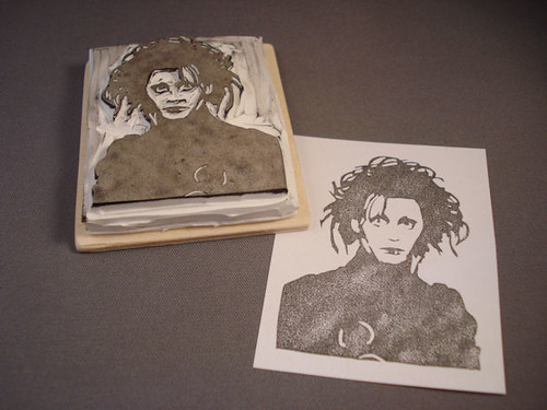 Edward Scissorhands rubber stamp