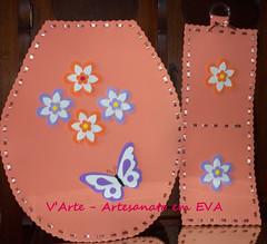 Jogo banheiro (v fazendo arte) Tags: eva flor borboleta jogo banheiro