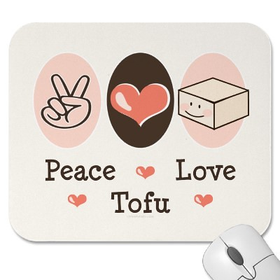 Peace ♥ Love ♥ Tofu Mousepad