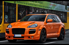 Porsche Cayenne ENCO Exclusive *explored* (ThomvdN) Tags: orange berlin photoshop germany nikon automotive cayenne turbo porsche thom april exclusive vr 2010 lightroom carphotography 18105 cs3 enco taifun d5000 thomvdn