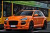 Porsche Cayenne ENCO Exclusive *explored* (ThomvdN) Tags: orange berlin photoshop germany nikon automotive cayenne turbo porsche thom april exclusive vr 2010 lightroom carphotography 18105 cs3 enco taifun d5000 thomvdn