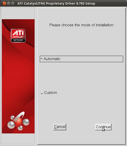 Figura 5 - Installazione Driver ATI Catalist, opzione installazione automatica;