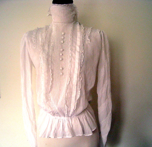 Delicate Victorian Blouse, Late 1800's