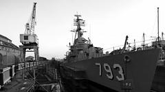 . (JHamel) Tags: longexposure blackandwhite fall boston charleston mass oldironsides nd400 navalyard canon24mmtse nuetraldensityfilter