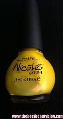 OPI, yellow, nail polish, Nicole, shimmer