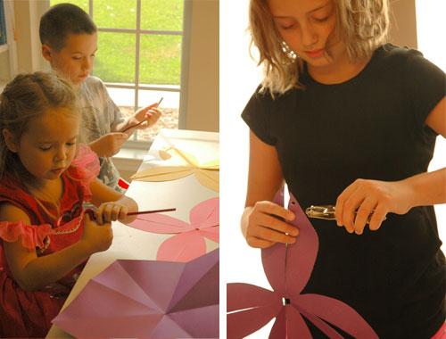 How to Make Easy Paper Pumpkins (step 3) by Brenda Ponnay for Alphamom.com