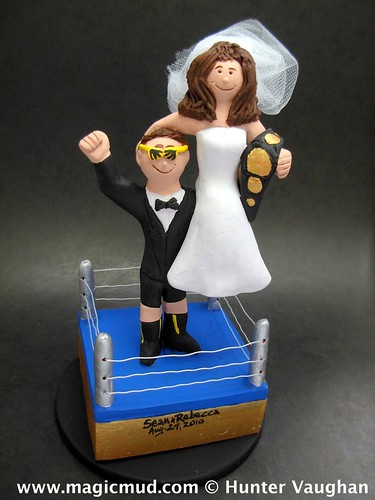 WWF Wrestling Wedding Cake Topper