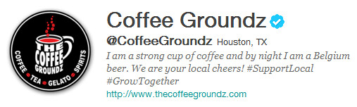 "coffeegroundz - ""this is what social media is meant to be."" - J.R. Cohen"