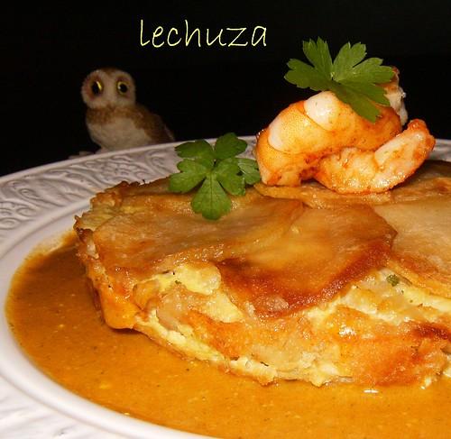 Pastel de pescado y marisco-detalle
