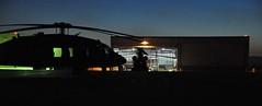 Flightline at Night (Marinehawk12) Tags: sunset night nikon aircraft duty helicopter transportation nationalguard boeing blackhawk chinook sikorsky vertol ch47 militaryaircraft uh60 d90 coloradonationalguard coloradoarmynationalguard buckleyafbco