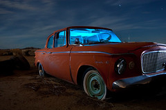 1961 Studebaker Lark VI Deluxe (TakenPictures) Tags: auto old nightphotography light arizona lightpainting classic abandoned car vintage painting automobile desert deluxe automotive paintingwithlight vehicle studebaker junkyard vi 1961 lark
