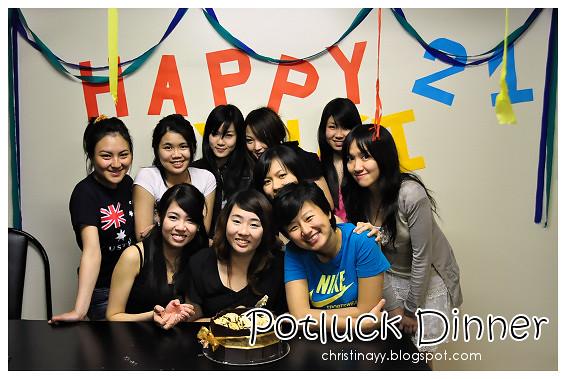 Graduation Potluck Party