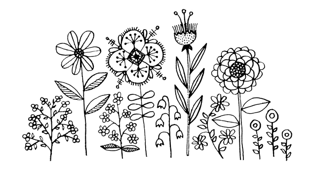 Flower doodles