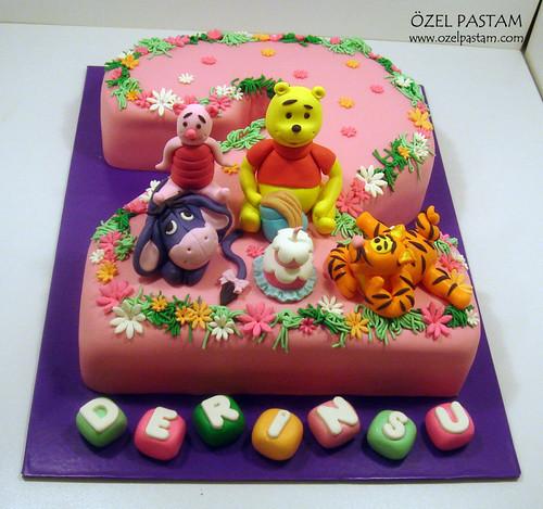 Derinsu'nun 2.Yaş Winnie ve Arkadaşları Pastası / Winnie the Pooh and Friends Cake