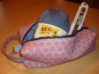 stricktasche/ knitting bag