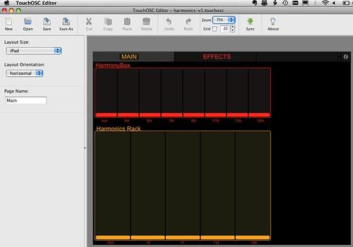 46/52: TouchOSC Editor with Harmonic Study Redux layout
