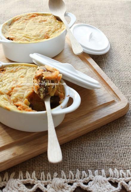 Cocotte di zucca al curry e panettone