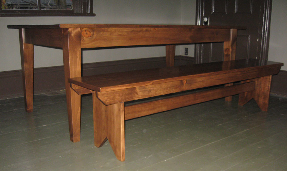 Antique Pine Dining Table-bit.ly