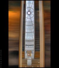 Underneath (peterphotographic) Tags: city uk roof england london nikon cityscape britain escalator dome shoppingmall d200 canarywharf hdr cabotsquare cabotplace