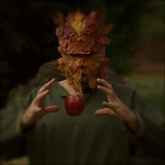 earth magic (Christopher Wallace) Tags: autumn man green fall leaves forest virginia woods nikon mask earth magic d70s christian va cycle ritual celtic christianity gaia rite celt wicca pagan greenman blacksburg wiccan celts idream deathandrebirth
