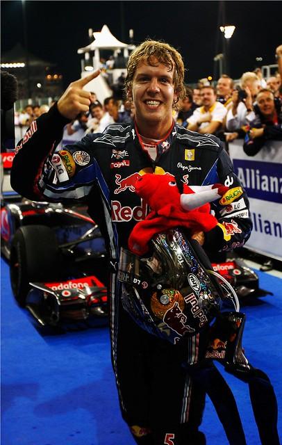 Sebastian Vettel em Abu Dhabi 2010