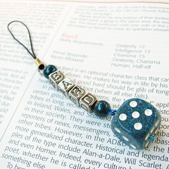 Bard Blues - Dice Cell Phone Charm or Keychain