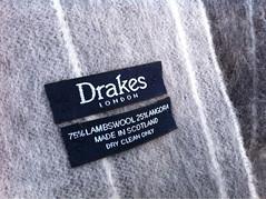 Drakes(ドレイクス)のマフラー ウール&アンゴラ