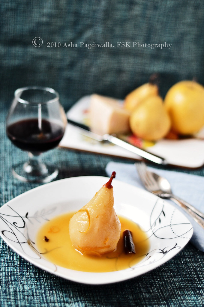 Orange Poached Pears 1