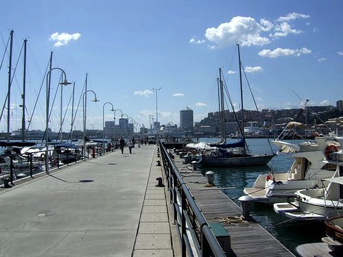 Old Port in Genoa with Yachts