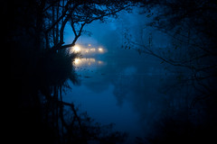 Blue (Bury Lake), Rickmansworth (flatworldsedge) Tags: longexposure blue autumn trees mist lake water fog night cool haunted vignette rickmansworth aquadrome explored regionwide yahoo:yourpictures=reflections yahoo:yourpictures=lightshade yahoo:yourpictures=waterv2 yahoo:yourpictures=england2013