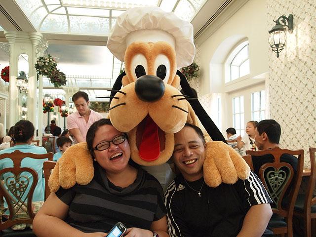 My Hong Kong Travel Blogger Buddies Nina and Og with Pluto