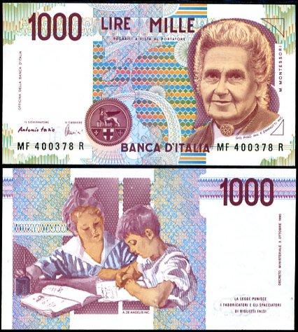 1000 Lír Taliansko 1990, P114