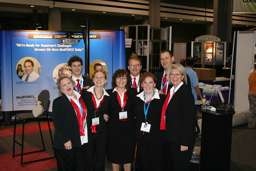 Our team at our booth at the show: