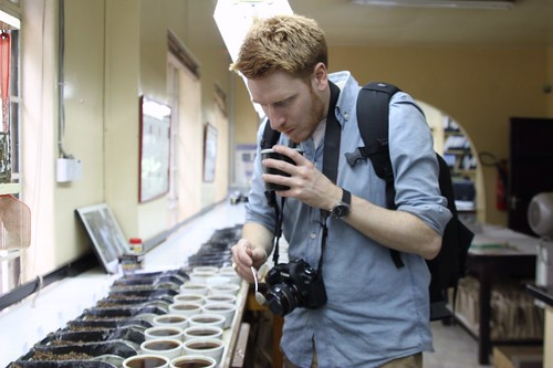 Anders Valde cupping at Dorman's